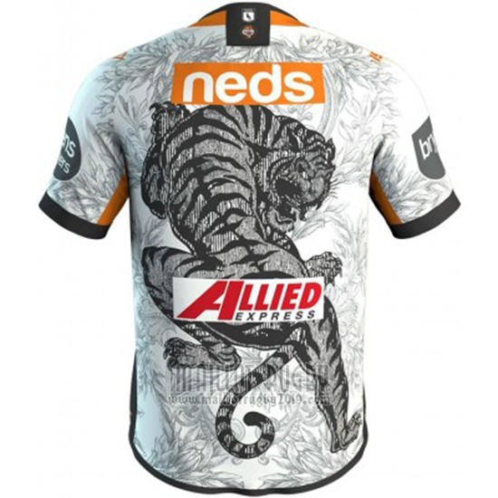 Maillot Wests Tigers 9s Rugby 2020 Blanc